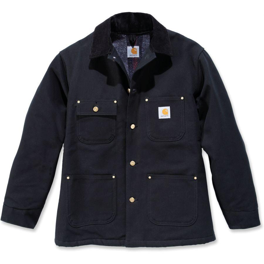 9673caced058 Carhartt Men s Duck Chore Coat Blanket Lined Black